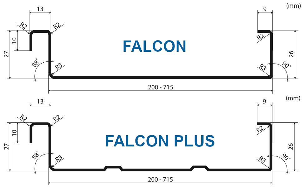profil pásov Falcon